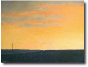 Indiana painting, Sunset painting, landscape painting, Midwest painting