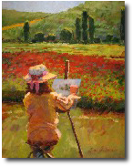 poppies painting, concordes france