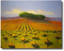 Vineyard painting, Paso Robles vineyard painting